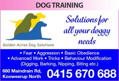 Golden Acres Dog Solutions